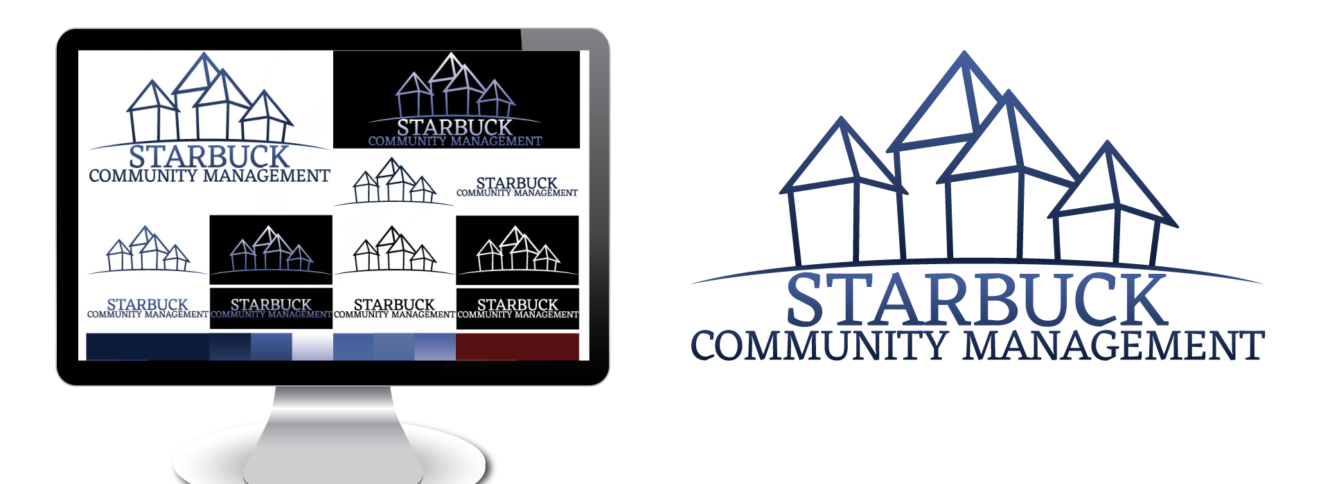 Screen Captures of example project: Branding and Logo Design - Starbuck Community Management